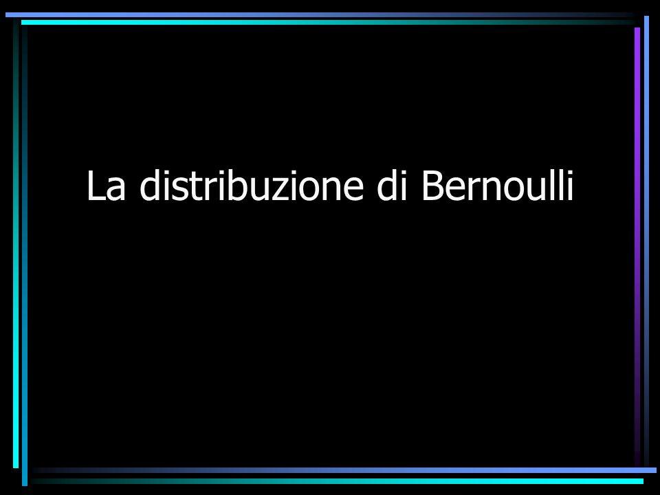 La distribuzione di Bernoulli