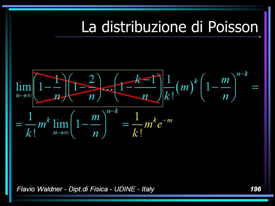 Flavio Waldner - Dipt.di Fisica - UDINE - Italy196 La distribuzione di Poisson