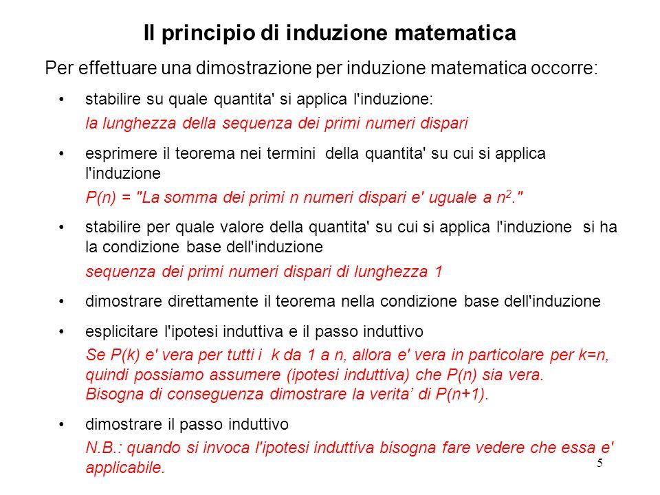 16 Situazione alla k-esima iterazione del ciclo interno: v[0]..v[i-2]tratto del vettore gia globalmente (quindi definitivamente) ) ordinato in modo non decrescente.