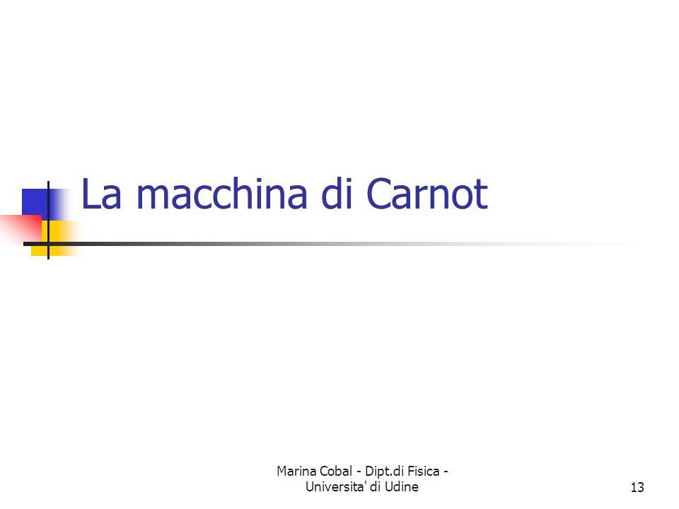 Marina Cobal - Dipt.di Fisica - Universita di Udine13 La macchina di Carnot