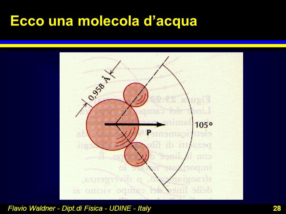 Flavio Waldner - Dipt.di Fisica - UDINE - Italy 28 Ecco una molecola dacqua