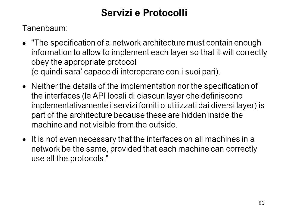 81 Servizi e Protocolli Tanenbaum: