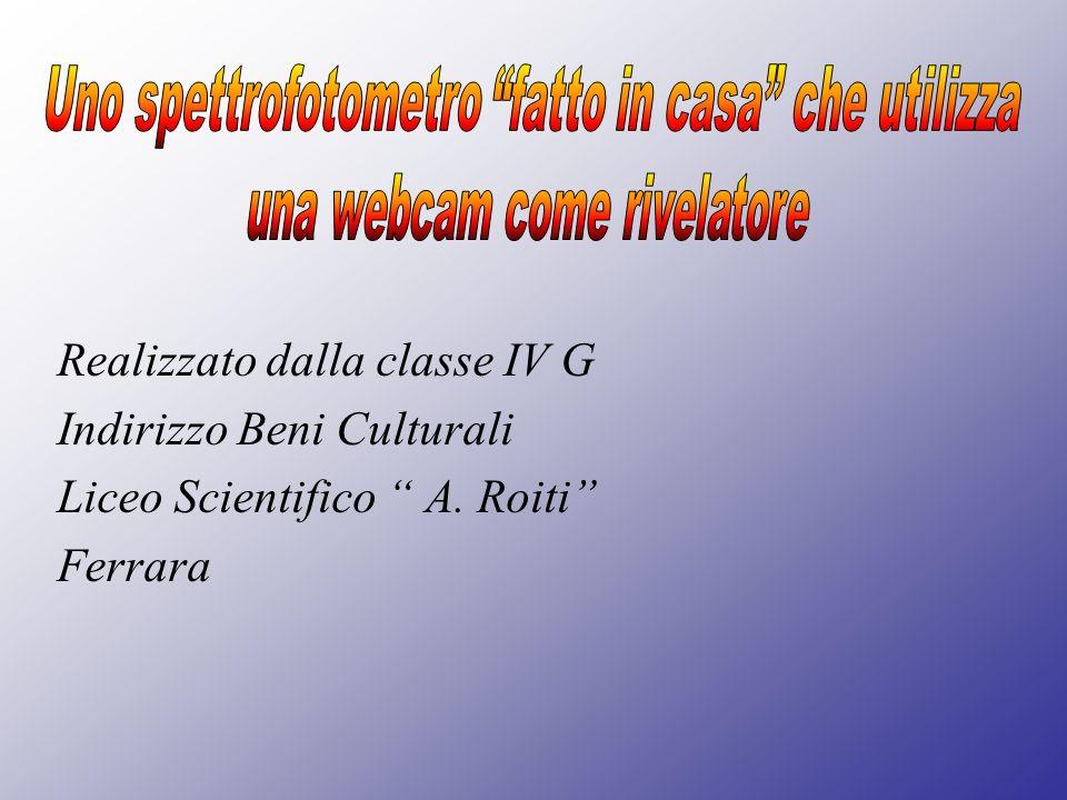 Realizzato dalla classe IV G Indirizzo Beni Culturali Liceo Scientifico A. Roiti Ferrara