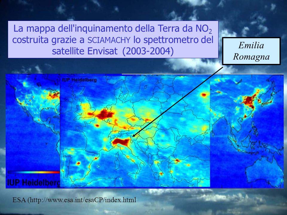 Emilia Romagna ESA (http://www.esa.int/esaCP/index.html La mappa dell'inquinamento della Terra da NO 2 costruita grazie a SCIAMACHY lo spettrometro de