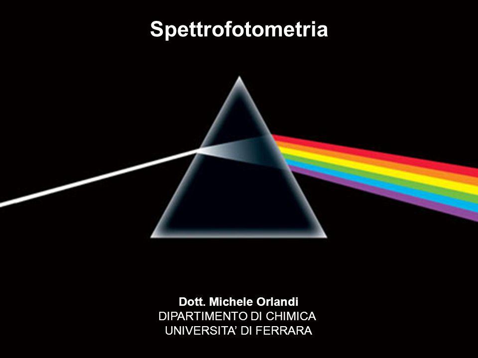 Spettrofotometria Dott. Michele Orlandi DIPARTIMENTO DI CHIMICA UNIVERSITA DI FERRARA