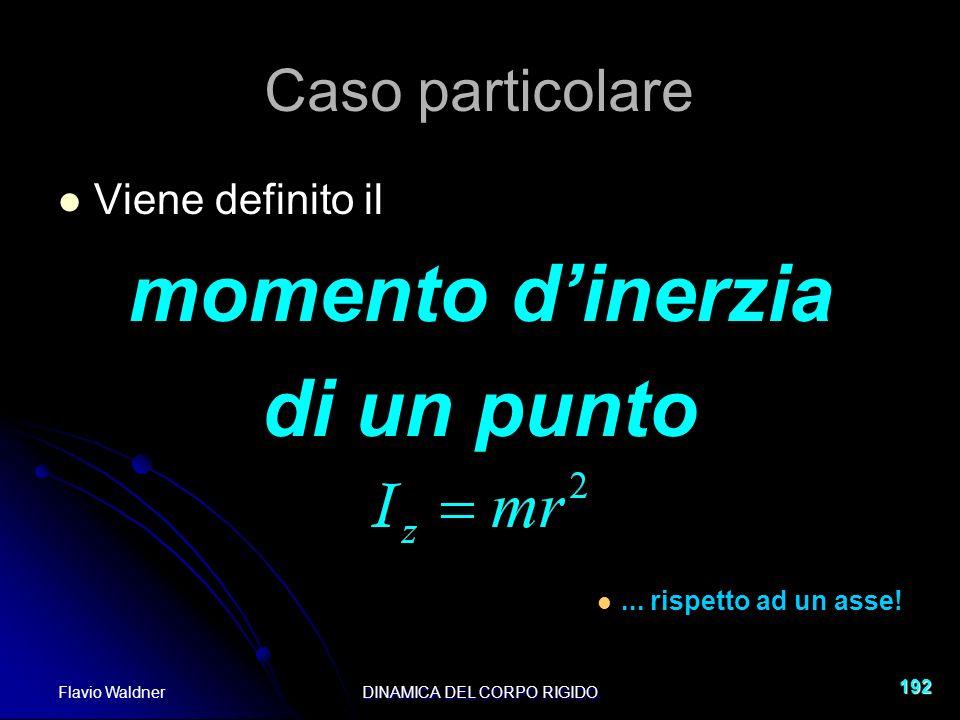Flavio WaldnerDINAMICA DEL CORPO RIGIDO 192 Viene definito il momento dinerzia di un punto...