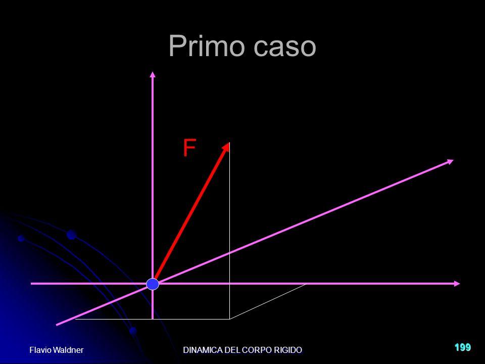 Flavio WaldnerDINAMICA DEL CORPO RIGIDO 199 Primo caso F