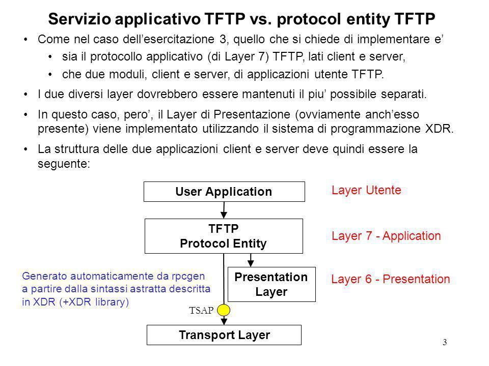 3 Servizio applicativo TFTP vs.