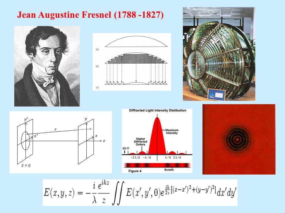 Jean Augustine Fresnel (1788 -1827)