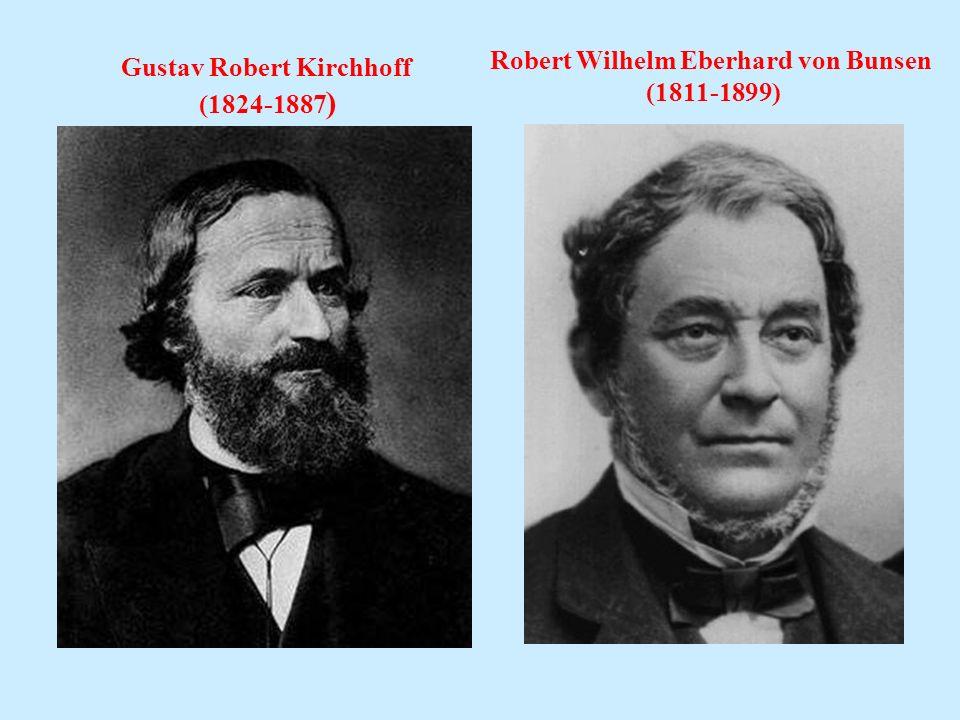 Gustav Robert Kirchhoff (1824-1887 ) Robert Wilhelm Eberhard von Bunsen (1811-1899)