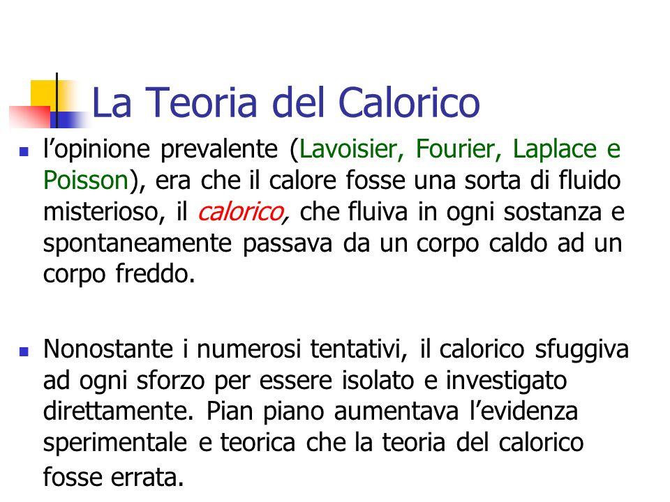Marina Cobal - Dipt.di Fisica - Universita' di Udine12 La Teoria del Calorico lopinione prevalente (Lavoisier, Fourier, Laplace e Poisson), era che il