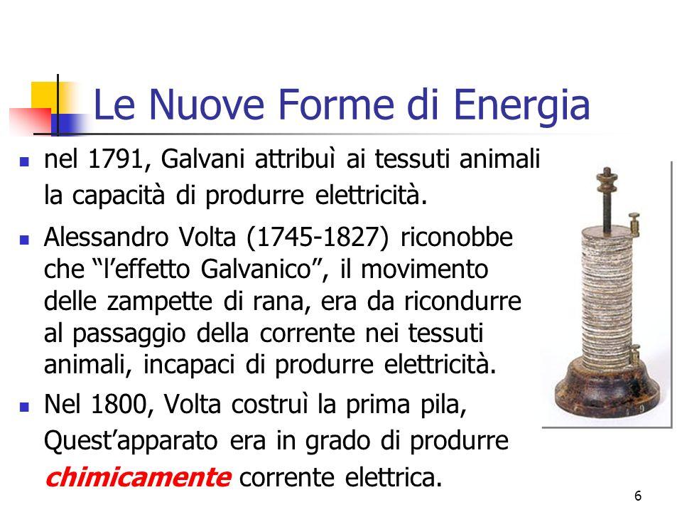 Marina Cobal - Dipt.di Fisica - Universita' di Udine6 Le Nuove Forme di Energia nel 1791, Galvani attribuì ai tessuti animali la capacità di produrre