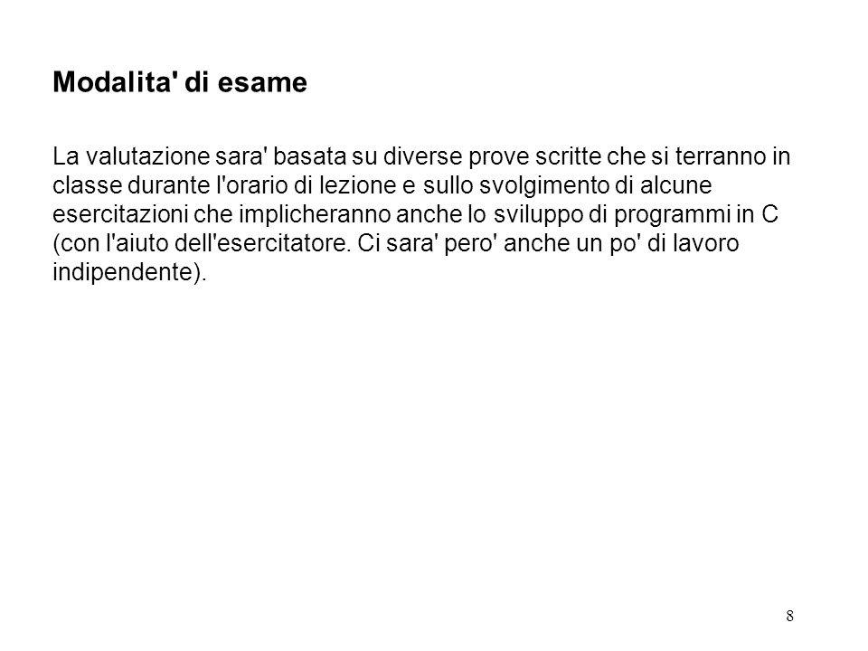 9 Docenti 1.Claudio Salati claudio.salati@icn.siemens.it csalati@acm.org 2.Denis Romagnoli denis.romagnoli@icn.siemens.it Telefono/Fax/Indirizzo (comuni) Telefono:051-265678 Fax:051-261074 Indirizzo:c/o Siemens via degli Agresti 4 40123 Bologna BO Orario di ricevimento Sostanzialmente on demand.