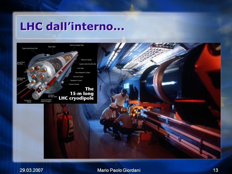 29.03.2007Mario Paolo Giordani13 LHC dallinterno...