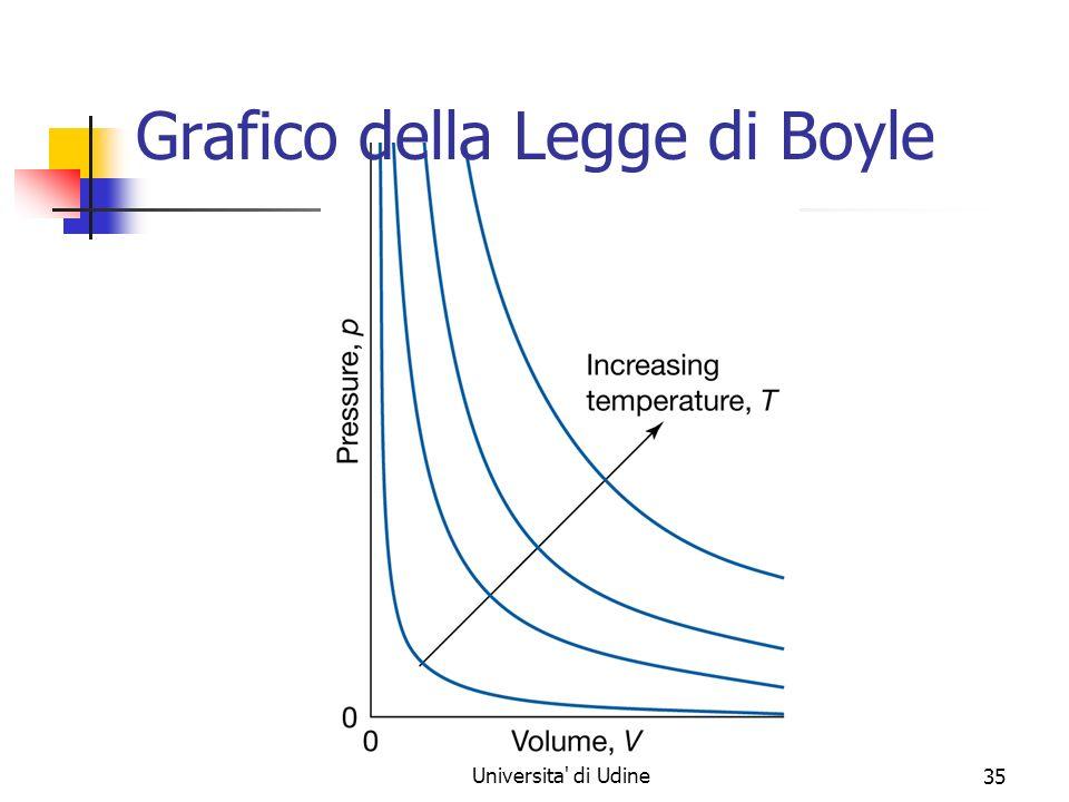 Marina Cobal - Dipt.di Fisica - Universita' di Udine35 Grafico della Legge di Boyle