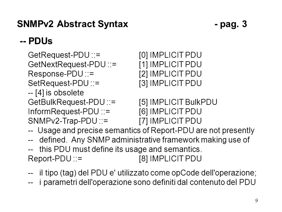 10 SNMPv2 Abstract Syntax- pag.