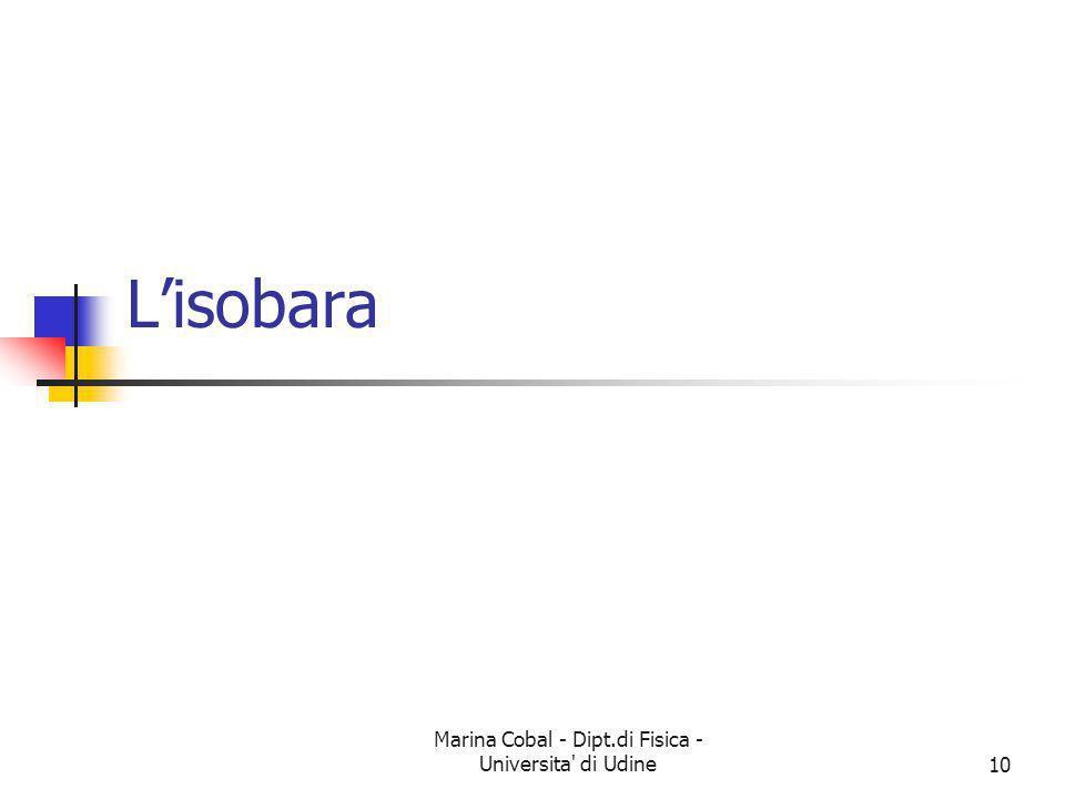 Marina Cobal - Dipt.di Fisica - Universita' di Udine10 Lisobara