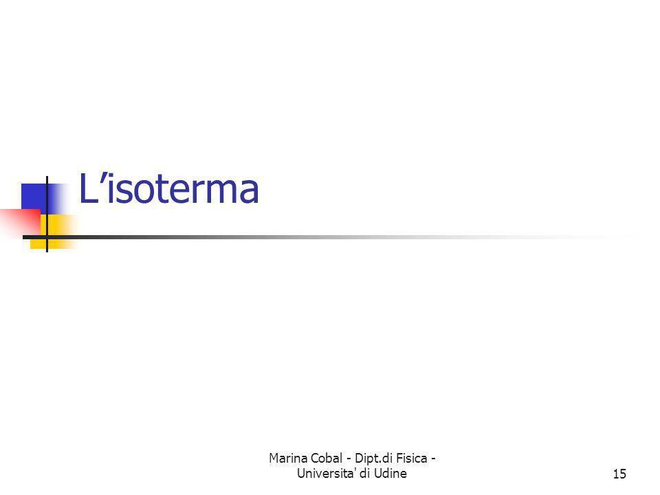 Marina Cobal - Dipt.di Fisica - Universita' di Udine15 Lisoterma