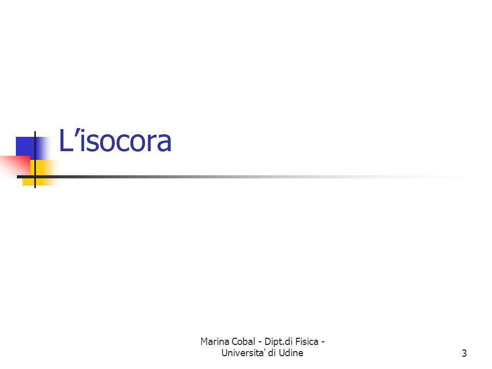 Marina Cobal - Dipt.di Fisica - Universita' di Udine3 Lisocora