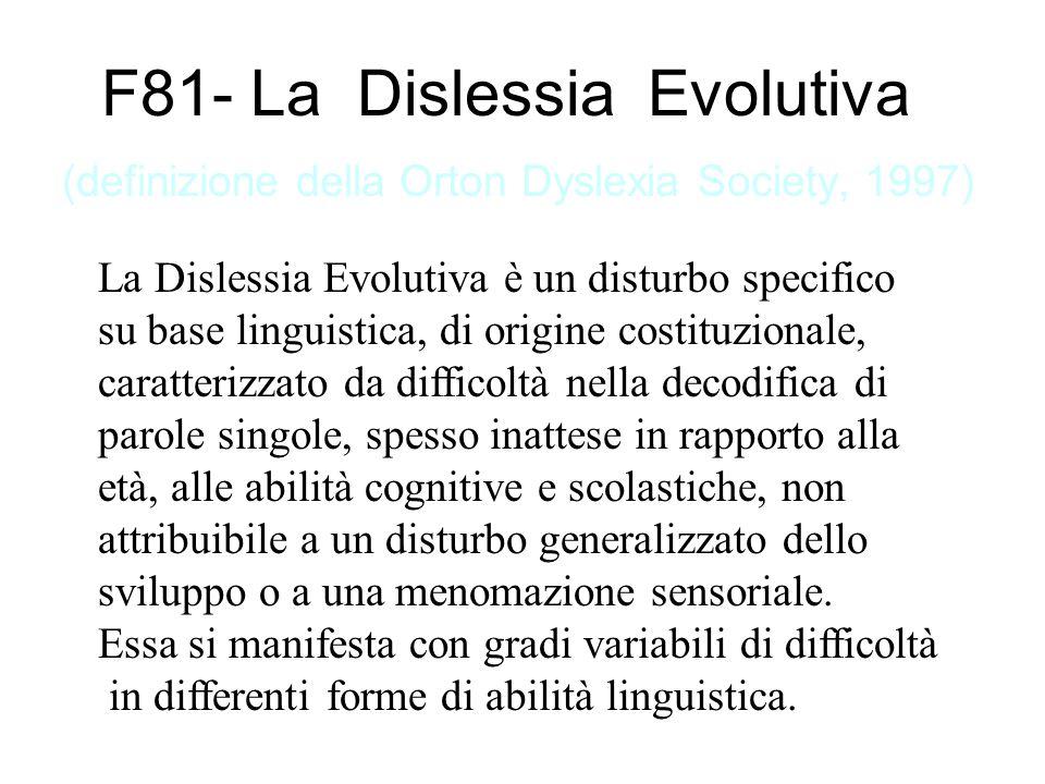…implicazioni per la Rieducazione (4) In secondo luogo è ormai ampiamente riconosciuto che né i fattori socio-educativi, né quelli di tipo emotivo-relazionale svolgono un ruolo causale nella genesi della Dislessia Evolutiva, anche se a volte possono risultare associati.