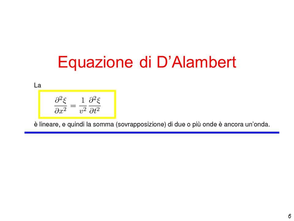6 Equazione di DAlambert