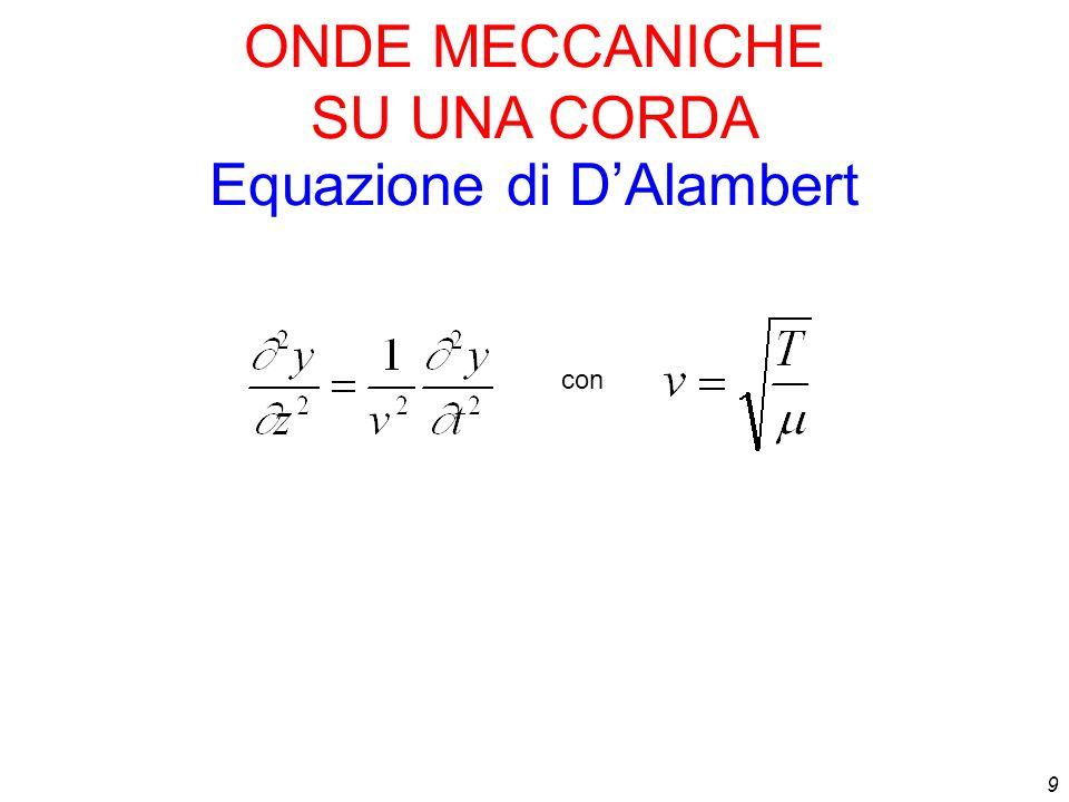 9 con Equazione di DAlambert