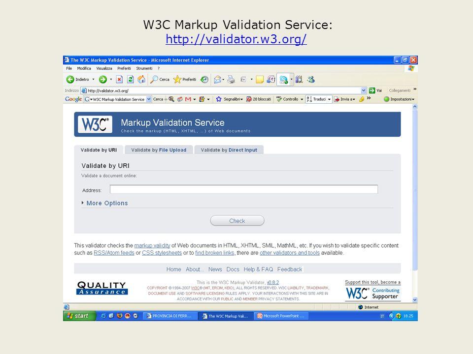 W3C Markup Validation Service: http://validator.w3.org/