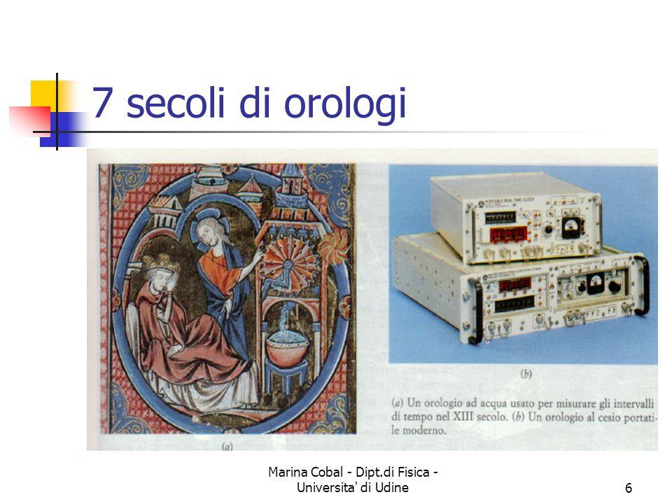 Marina Cobal - Dipt.di Fisica - Universita' di Udine6 7 secoli di orologi