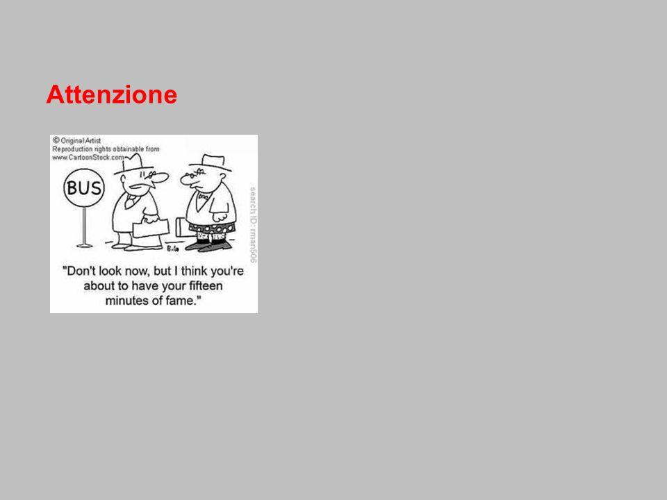 definizione processo che seleziona le informazioni che stimolano i sistemi sensoriali consente soltanto ad alcune di accedere al sistema cognitivo (le informazioni non necessarie sono escluse => viene evitato un sovraccarico cognitivo) FILTRO ATTENTIVO attenzione