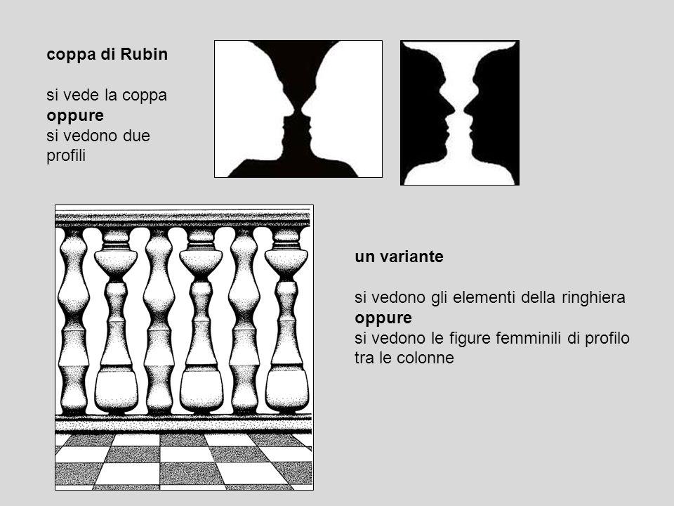 coppa di Rubin si vede la coppa oppure si vedono due profili un variante si vedono gli elementi della ringhiera oppure si vedono le figure femminili d