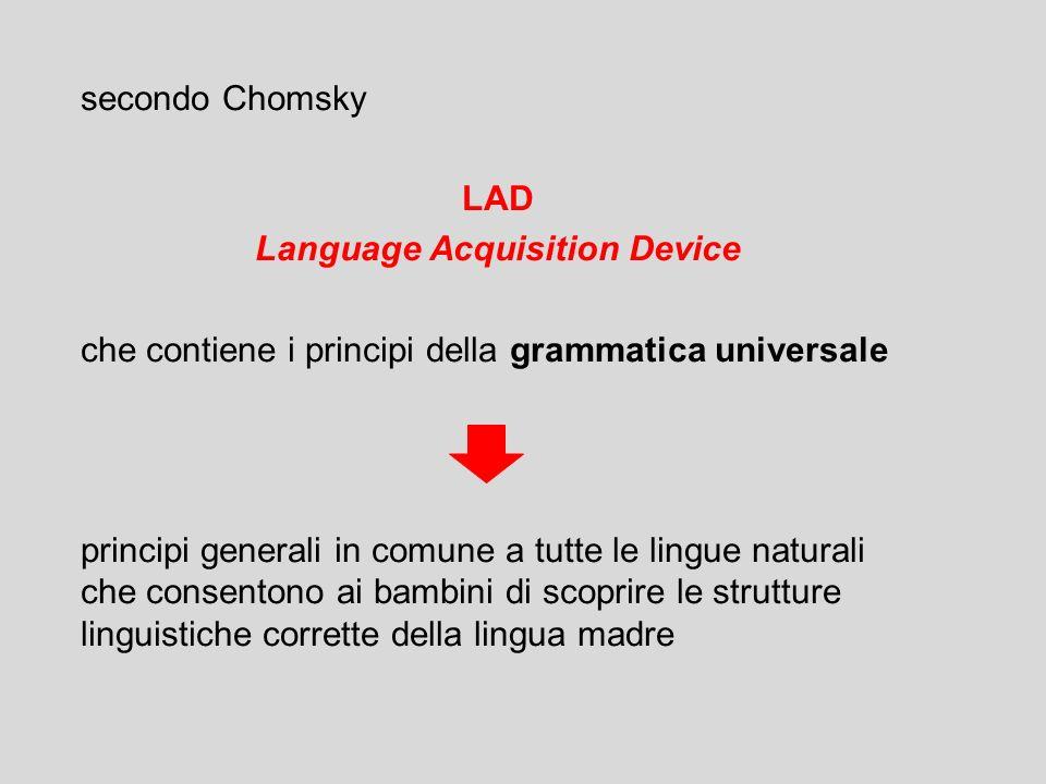 lo sviluppo del linguaggio è sottoposto a vincoli temporali definiti periodo critico Lenneberg (1967) la piena competenza linguistica può essere acqui