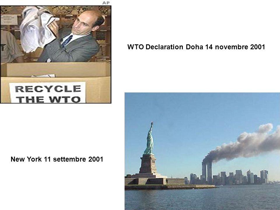 WTO Declaration Doha 14 novembre 2001 New York 11 settembre 2001