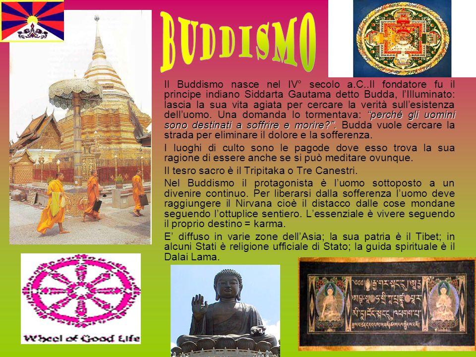 perché gli uomini sono destinati a soffrire e morire?. Il Buddismo nasce nel IV° secolo a.C..Il fondatore fu il principe indiano Siddarta Gautama dett