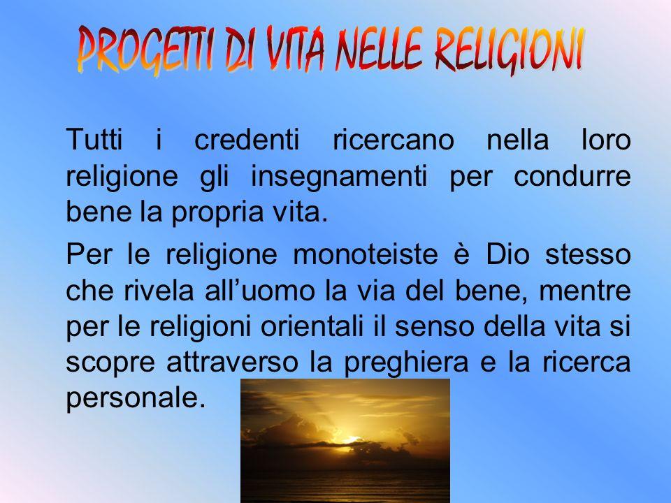 Tutti i credenti ricercano nella loro religione gli insegnamenti per condurre bene la propria vita. Per le religione monoteiste è Dio stesso che rivel
