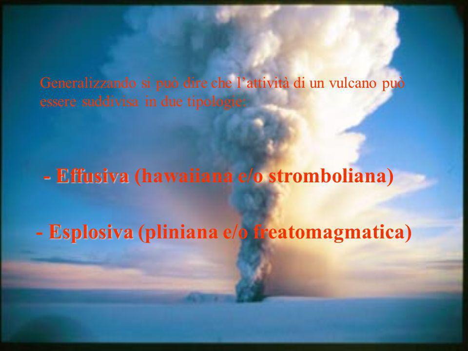 Da questi due tipi principali di eruzioni si originano - i vulcani a scudo - gli strato-vulcani
