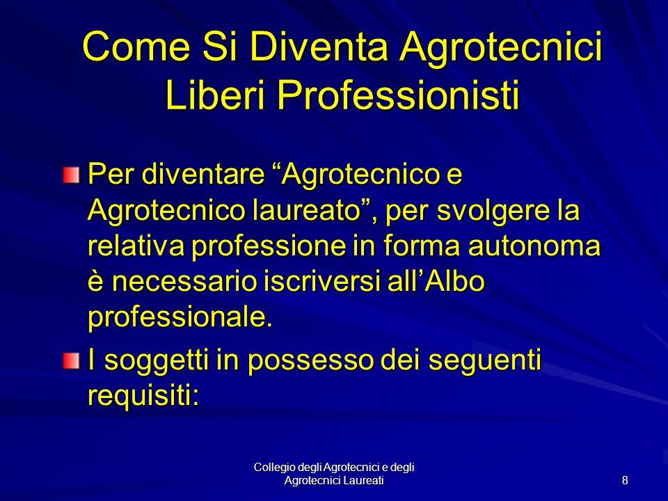 Collegio degli Agrotecnici e degli Agrotecnici Laureati 7 La Tutela Legale Penale Tutti coloro i quali, anche se laureati o abilitati ma non iscritti