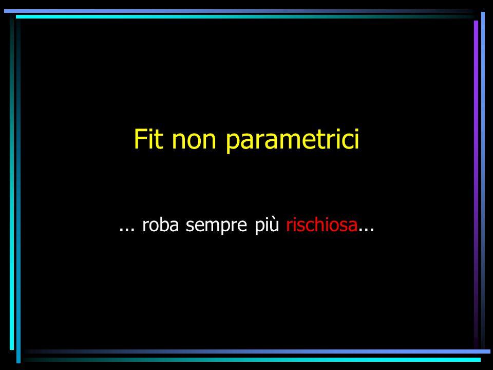 Fit non parametrici... roba sempre più rischiosa...