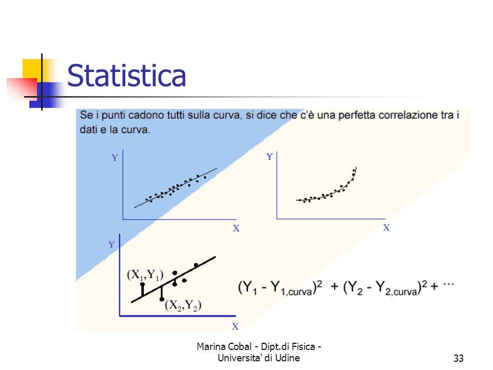 Marina Cobal - Dipt.di Fisica - Universita' di Udine33 Statistica