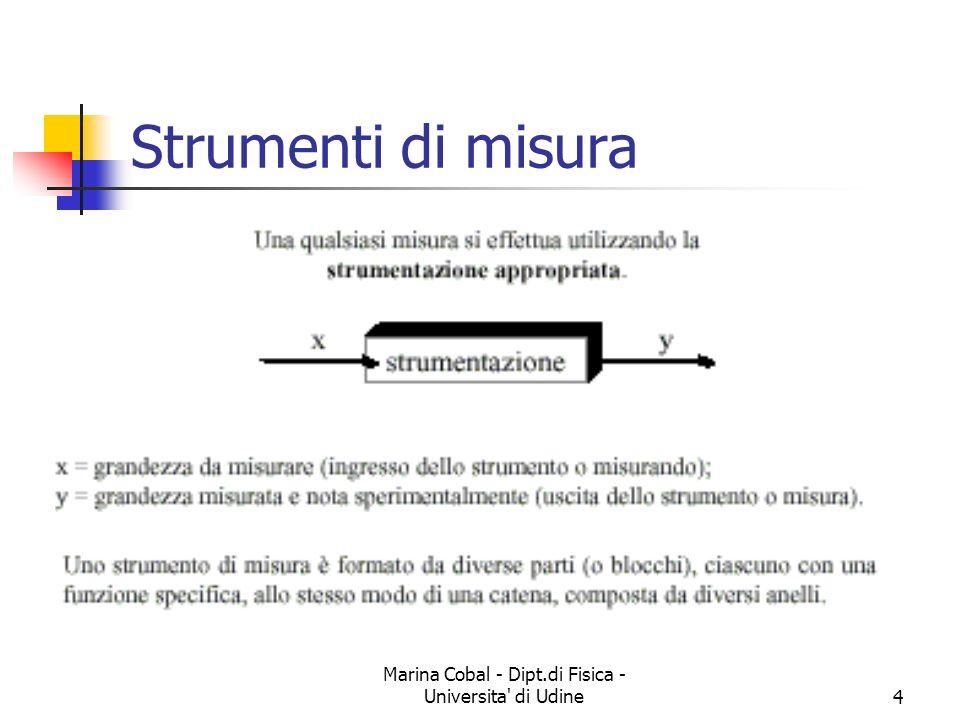 Marina Cobal - Dipt.di Fisica - Universita' di Udine4 Strumenti di misura