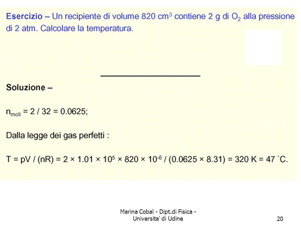 Marina Cobal - Dipt.di Fisica - Universita' di Udine20