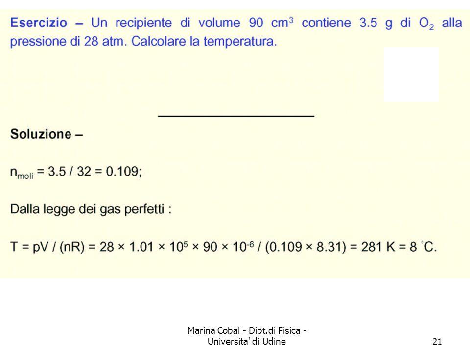 Marina Cobal - Dipt.di Fisica - Universita' di Udine21