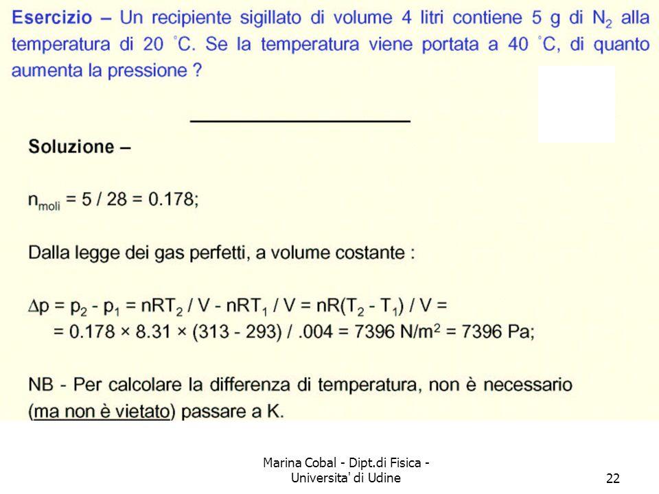 Marina Cobal - Dipt.di Fisica - Universita' di Udine22