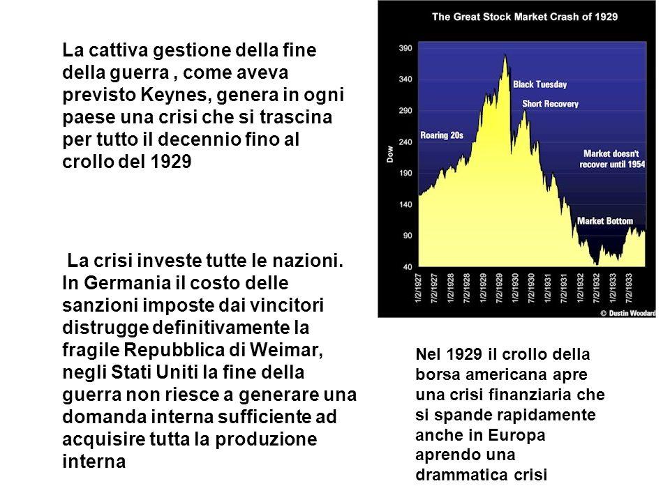 La crisi investe tutte le nazioni.