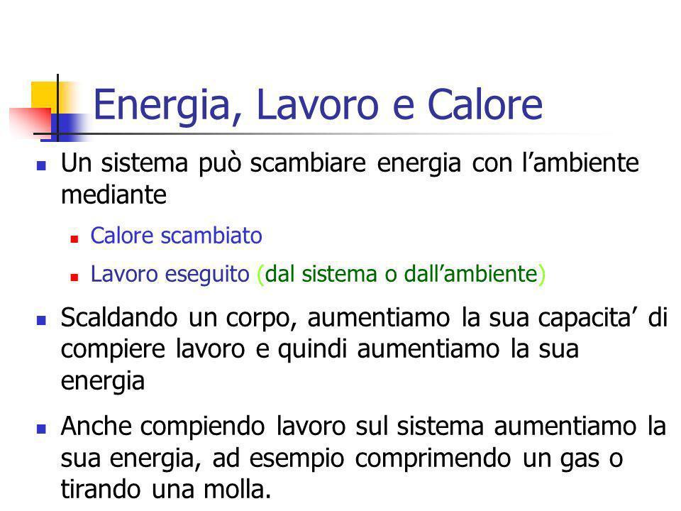 Marina Cobal - Dipt.di Fisica - Universita' di Udine6 Un sistema può scambiare energia con lambiente mediante Calore scambiato Lavoro eseguito (dal si