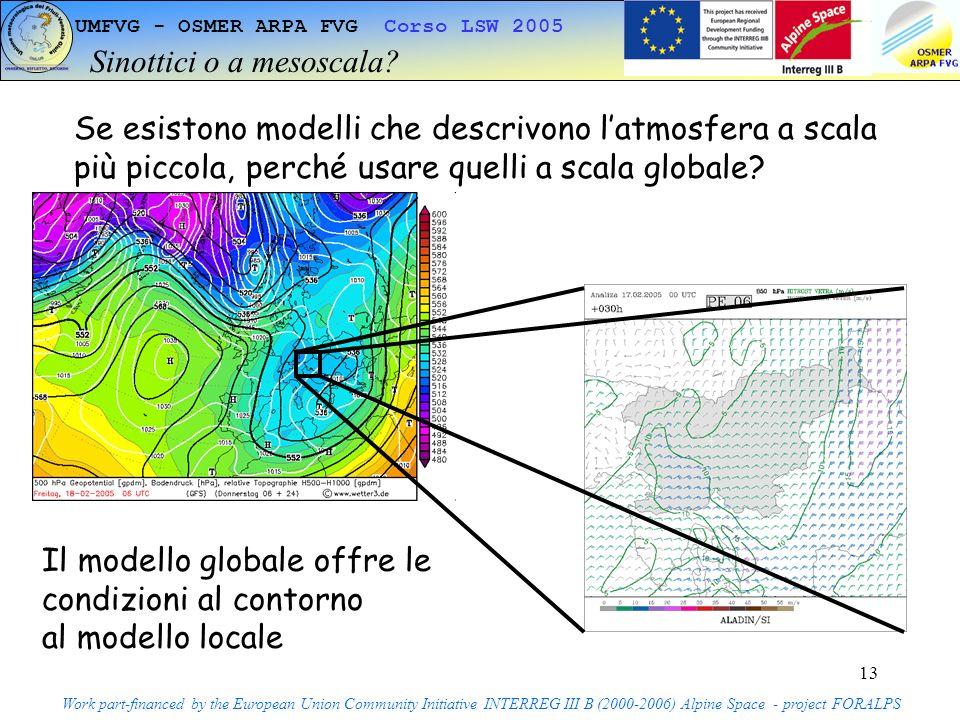 13 UMFVG - OSMER ARPA FVG Corso LSW 2005 Sinottici o a mesoscala.