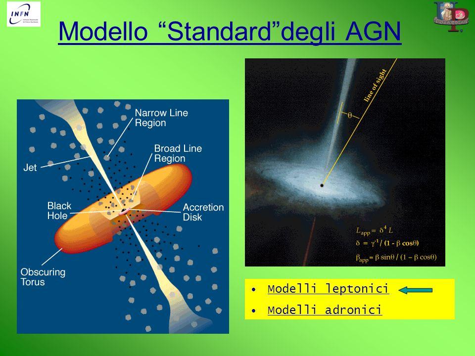Modello Standarddegli AGN Modelli leptonici Modelli adronici