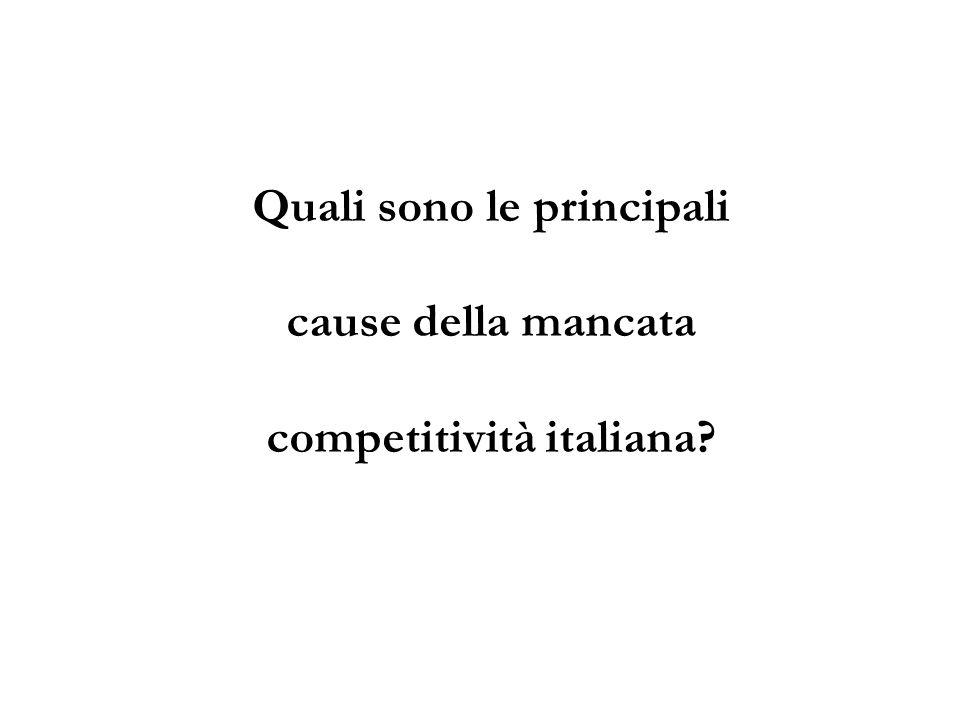 Quali sono le principali cause della mancata competitività italiana?