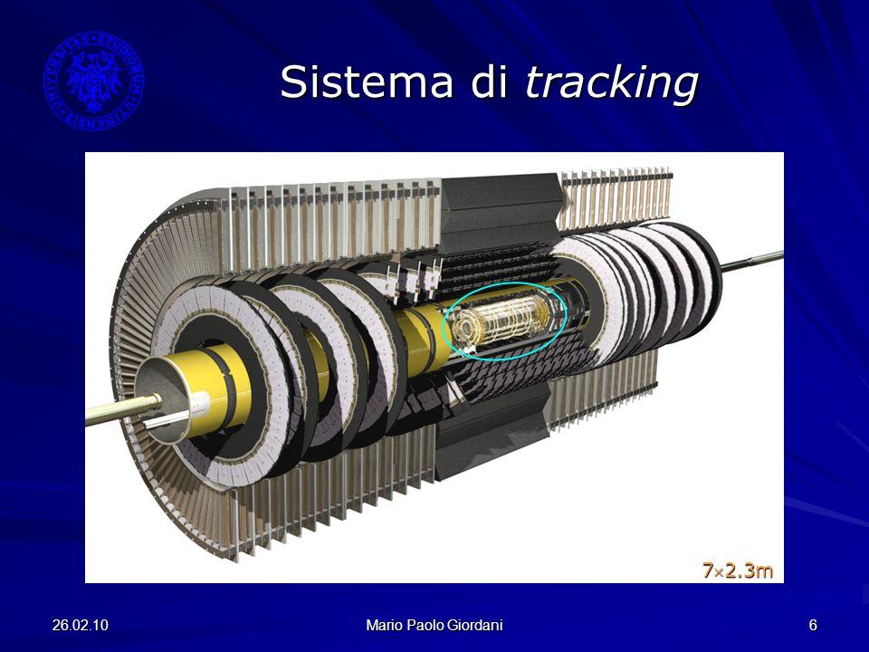 26.02.10 Mario Paolo Giordani 6 Sistema di tracking 72.3m