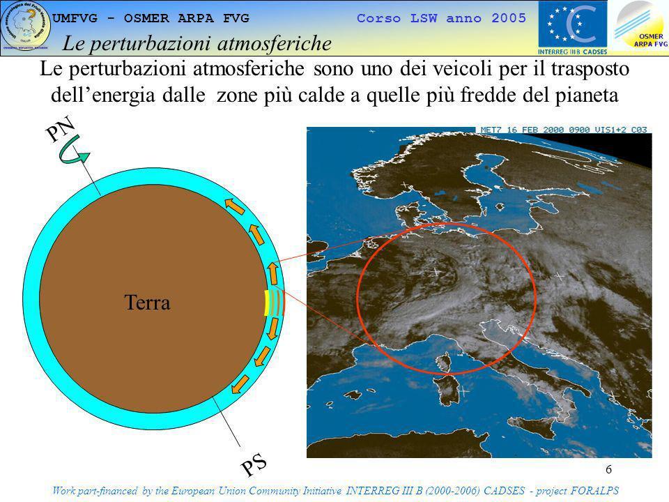 7 UMFVG - OSMER ARPA FVG Corso LSW anno 2005 Bilancio energetico giornaliero Work part-financed by the European Union Community Initiative INTERREG III B (2000-2006) CADSES - project FORALPS Terra Troposfera Terra Troposfera Giorno EntranteUscente Notte Totale 0 Intera Giornata 0 Circa in equilibrio nelle 24 ore Notte