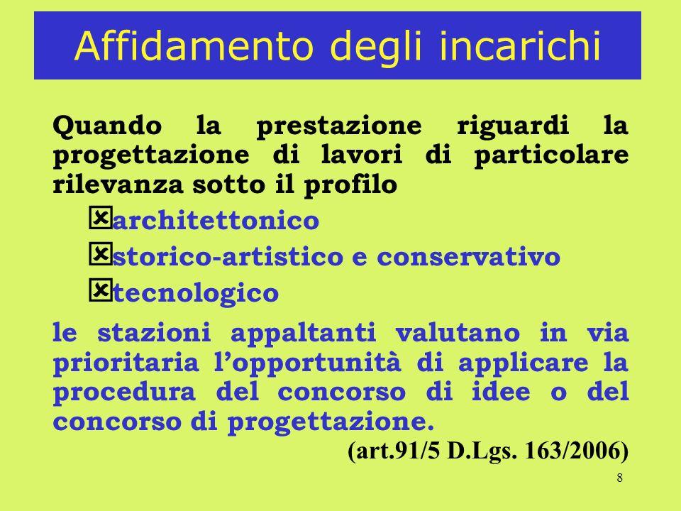 29 Concorso di idee Il concorrente predispone la proposta ideativa nella forma più idonea alla sua rappresentazione.